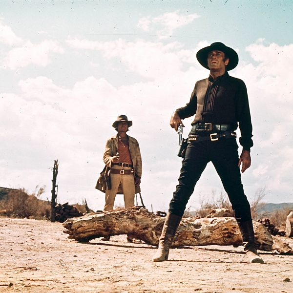 En klassisk bild i westernfilmsammanhang