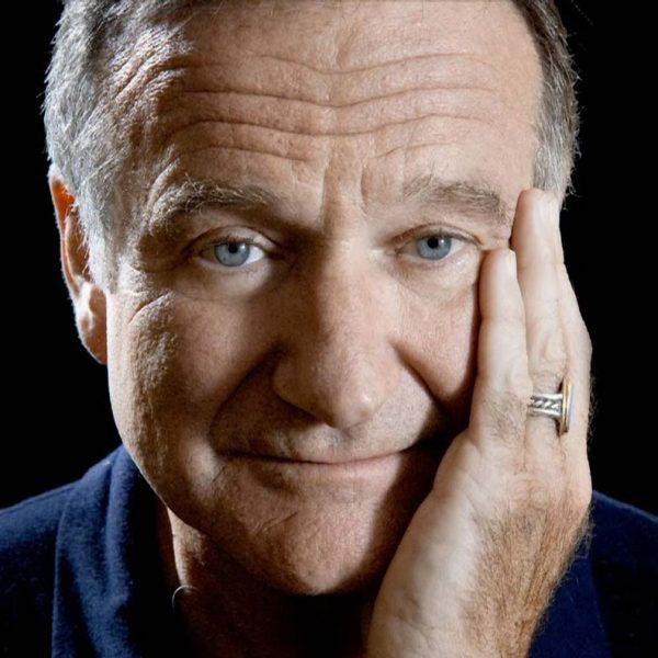 Porträtt bild på Robin Williams.