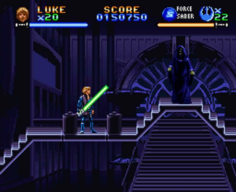 Från Return of the Jedi. Ett filmspel som släpptes till SNES: