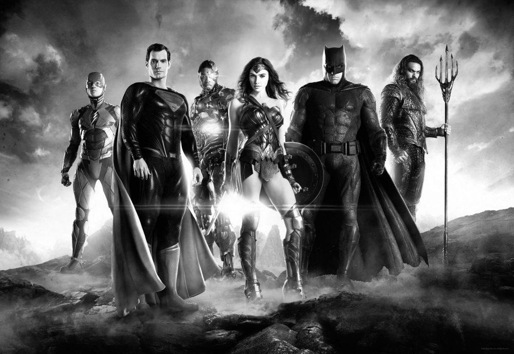 Svartvita Zack Snyders Justice League